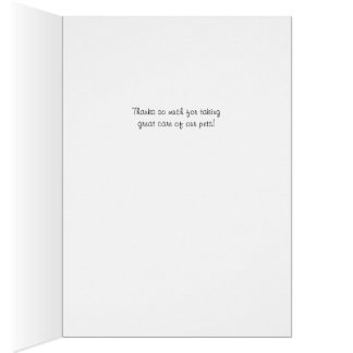 Cute pet Thank You card for Veterinarian
