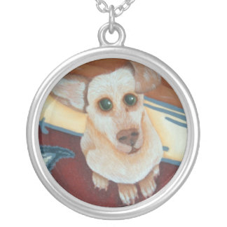 cute pet to stay close to your heart round pendant necklace
