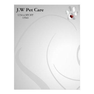 Cute Pets Business Letterheads Letterhead