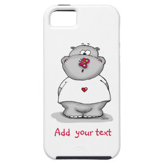 Cute phone case - Hippo with Butterfly on his nose