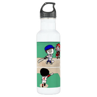 Cute Photo face template baseball players Stainless Steel Water Bottle