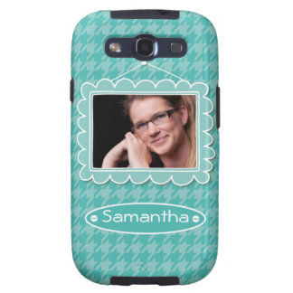 Cute photo frame with houndstooth pattern samsung galaxy SIII cases