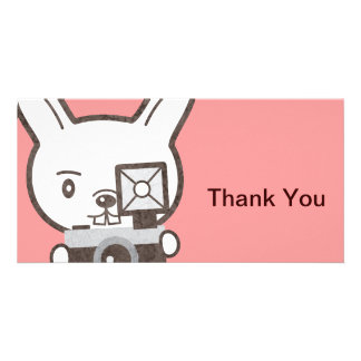 Cute Photographer Rabbit Card