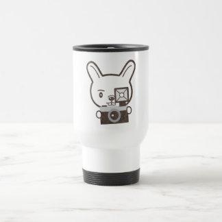 Cute Photographer Rabbit Coffee Mugs