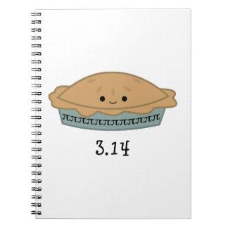 Cute Pi Day 3.14 Spiral Note Book