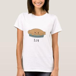 Cute Pi Day 3.14 T-shirt at Zazzle
