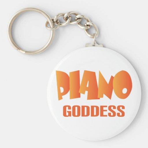 Cute Piano Goddess Music Gift Key Chains