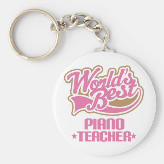 Cute Piano Teacher Gift Key Chain