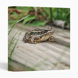 """Cute Pickerel Frog 1"""" Photo Album 3 Ring Binder"""