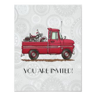 Cute Pickup Cycle 4.25x5.5 Paper Invitation Card