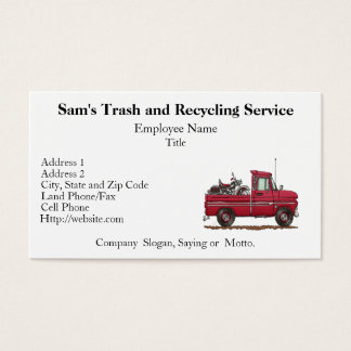 Cute Pickup Cycle Business Card