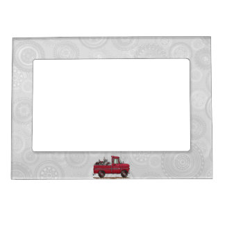 Cute Pickup Cycle Magnetic Picture Frames