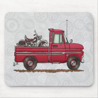 Cute Pickup Cycle Mouse Pad