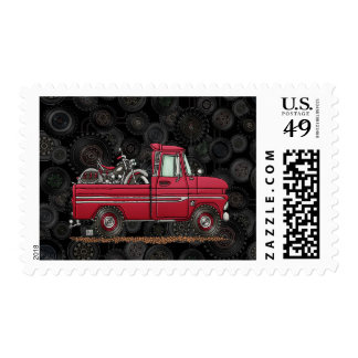 Cute Pickup Cycle Postage