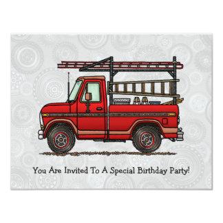 Cute Pickup Truck 4.25x5.5 Paper Invitation Card