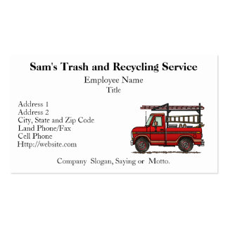 Cute Pickup Truck Double-Sided Standard Business Cards (Pack Of 100)