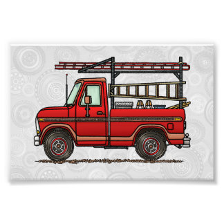 Cute Pickup Truck Photographic Print