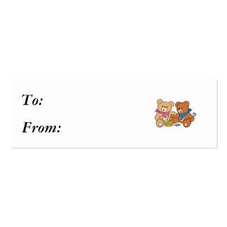 Cute Picnic Bears Business Card Templates