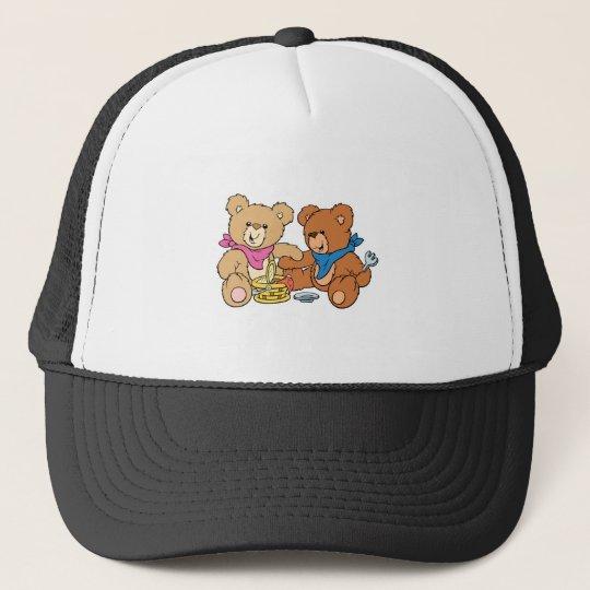 Cute Picnic Bears Trucker Hat