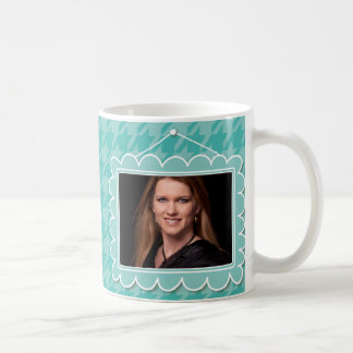 Cute picture frame with houndstooth mug