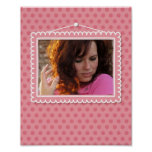 Cute picture frame with polkadots print