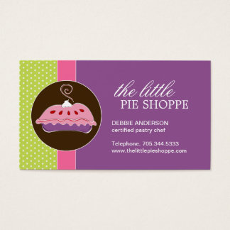 Cute Pie Business Cards