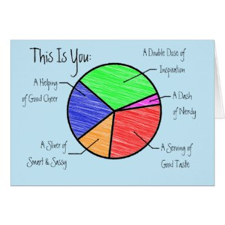 Cute Pie Chart Friends & Lovers Personalized Card