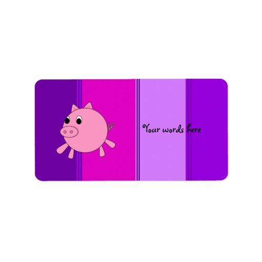 Cute pig address label