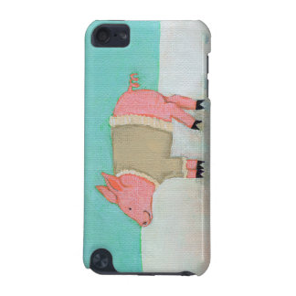 Cute pig art winter snow scene warm sweater iPod touch (5th generation) cover