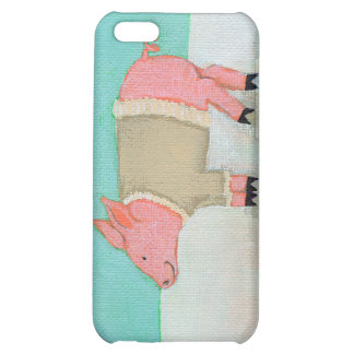 Cute pig art winter snow scene warm sweater iPhone 5C cover
