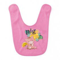Cute Pig Baby Bib