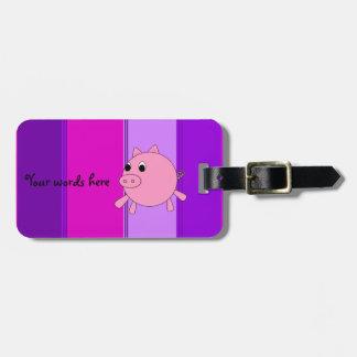 Cute pig bag tag