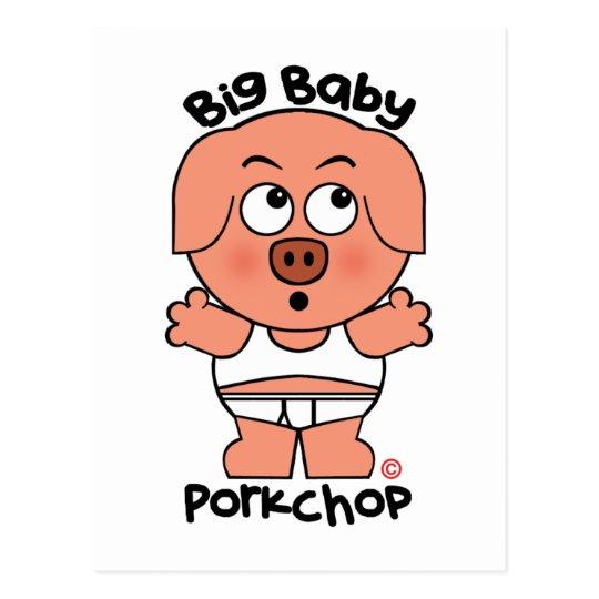 Cute Pig Big Baby Porkchop Postcard