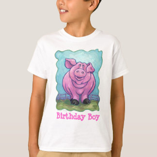 Cute Pig Birthday Boy T-Shirt
