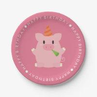 Funny Plates. Cute Pig Birthday Party  sc 1 st  Zazzle & Funny Plates   Zazzle