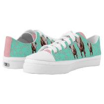 Cute Pig - Blue & Pink Swirls Low-Top Sneakers