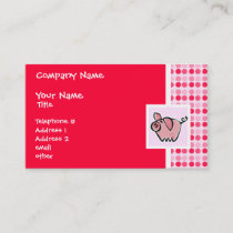 Cute Pig Business Card