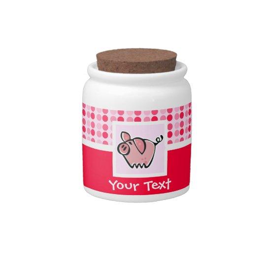 Cute Pig Candy Jar