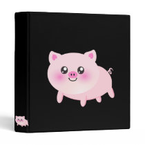 Cute pig cartoon binder