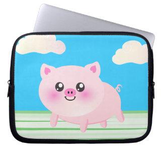 Cute pig cartoon computer sleeve