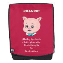 Cute Pig Cartoon & Good Vibes Backpack