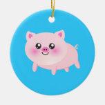 Cute pig cartoon ornaments