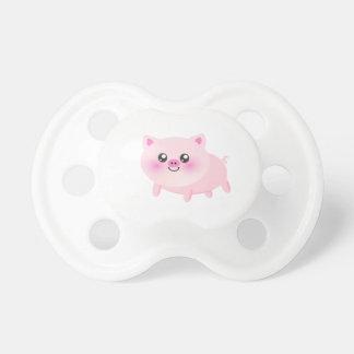 Cute pig cartoon baby pacifiers