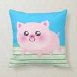 Cute pig cartoon pillow
