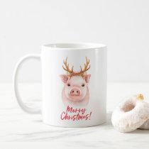 Cute Pig Christmas Mug