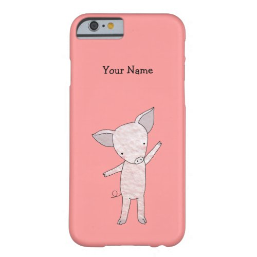 Cute Pig Custom iPhone Case Personalized iPhone 6 Phone Case