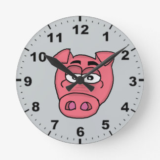 Cute pig design wall clocks
