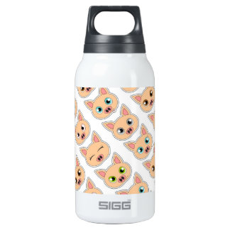 Cute Pig Expressions Pattern Insulated Water Bottle