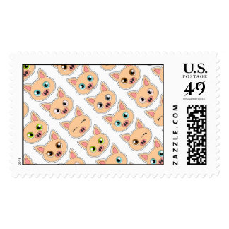 Cute Pig Expressions Pattern Stamp