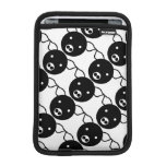 Cute Pig Face Black and White Cartoon Pattern Sleeve For iPad Mini